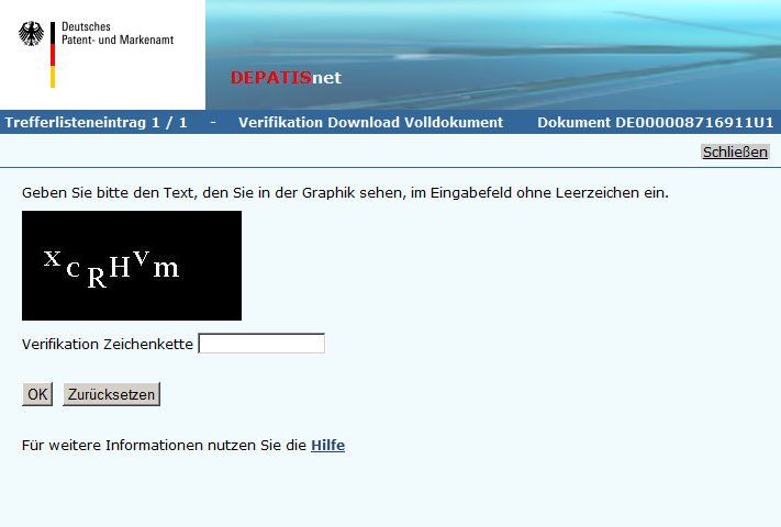 DEPATISnet Verifikation Download Volldokument DE000008716911U1_20130516-163102